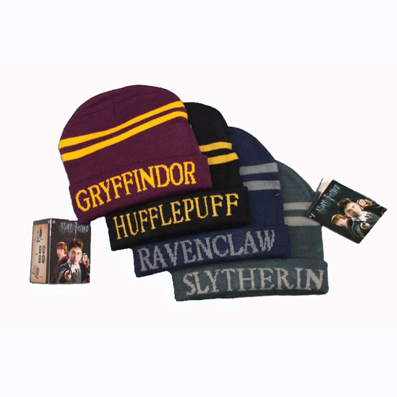 Gryffindor Slytherin Harry Potter Cos Cap Warm Costume Cosplay Accessories Christmas Halloween Gift Cap Anime Cosplay Wholesale