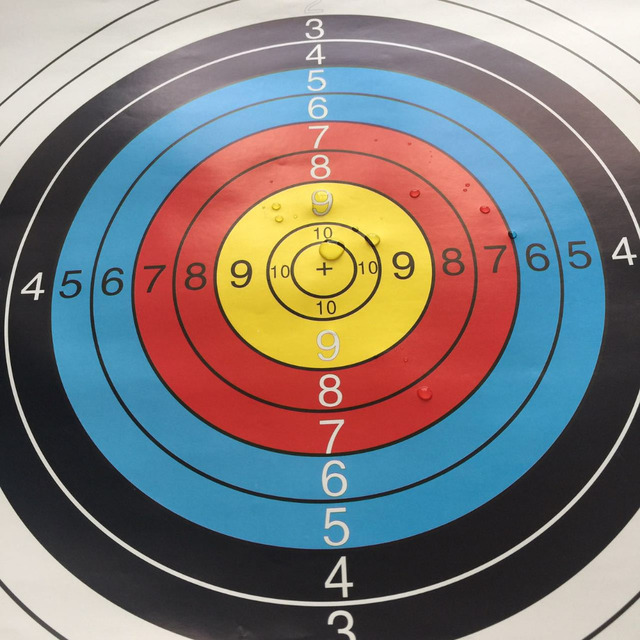 10 pcs 40*40cm Standard Archery Targets Paper Hunting Shooting Pratice Paper For Recurve Compound 2