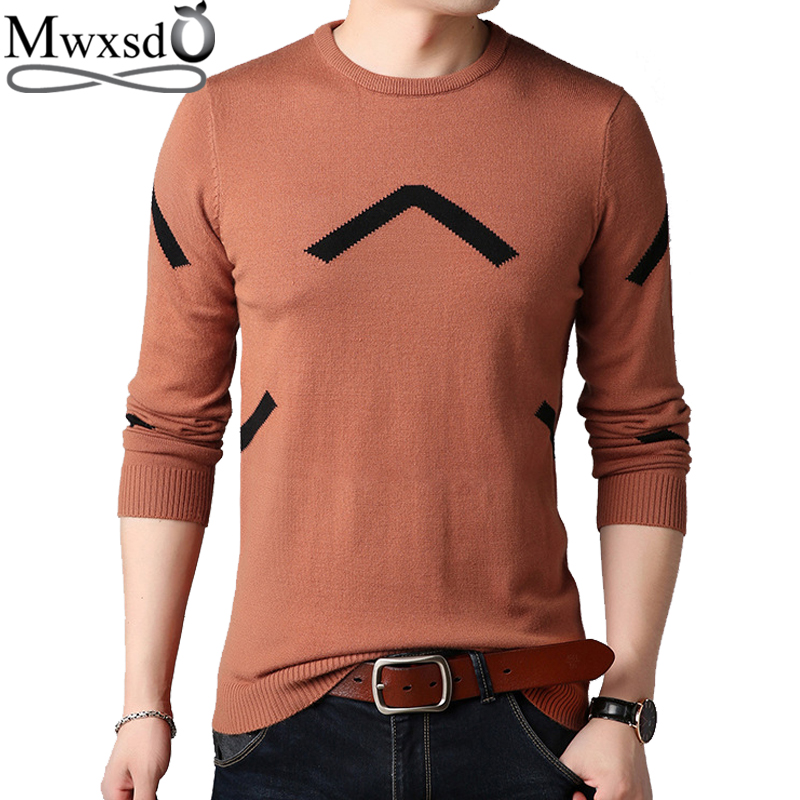 Mwxsd Brand Winter Casual Men's Printed O Neck Pullovers Sweater Men Cashmere Pullovers Knitwear Soft Sweater For Male