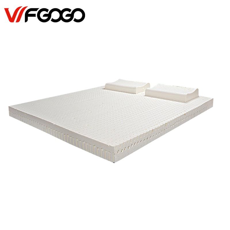 WFGOGO latex mattress 5cm pure natural double tatami mattresses Latex Soft Bed Bedding цена и фото