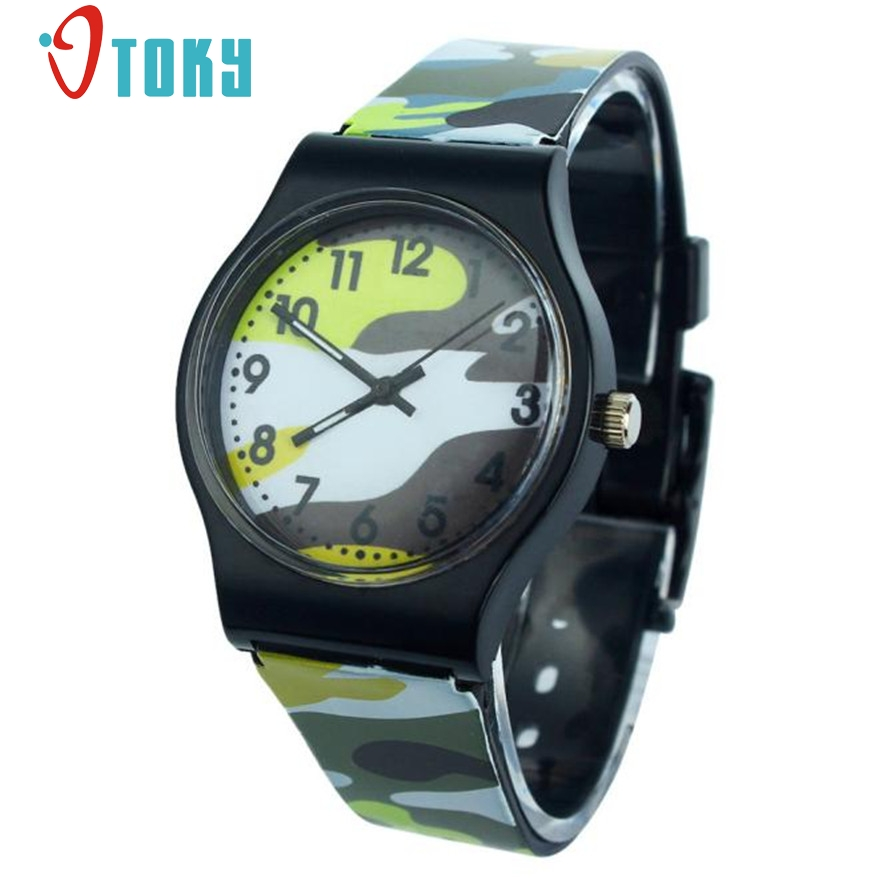 OTOKY Camouflage Children silicone band Watch Quartz Wristwatch relogio For Kids Girl Boy #40 Gift 1pc(China)