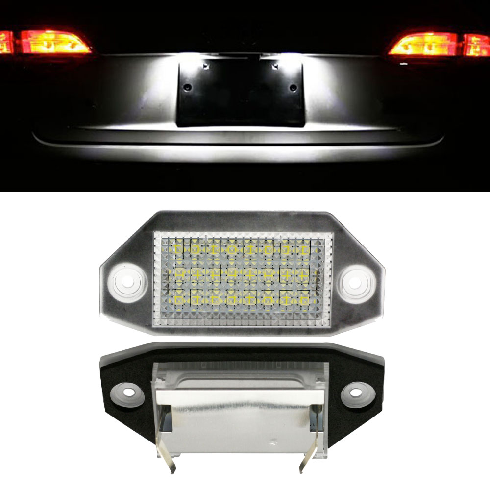 Hopstyling 2pcs 24smd No Error Led Number License Plate Light 3x3 Fog Installledrockerswitchdiagramjpg Lamp For Ford Mondeo Mk3 2000 2007 Bulb Replacement