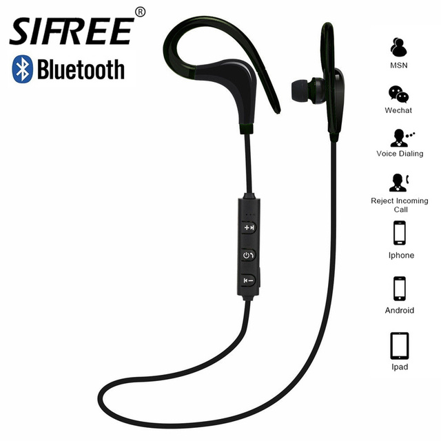 Zaczep na ucho bezprzewodowe słuchawki Bluetooth słuchawki sportowe słuchawki Fone de ouvido dla telefonu z pałąkiem na kark Ecouteur Auriculares Bluetooth