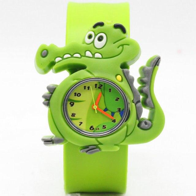 Free shipping Cartoon frog slap kids children boys wrist watch best gift
