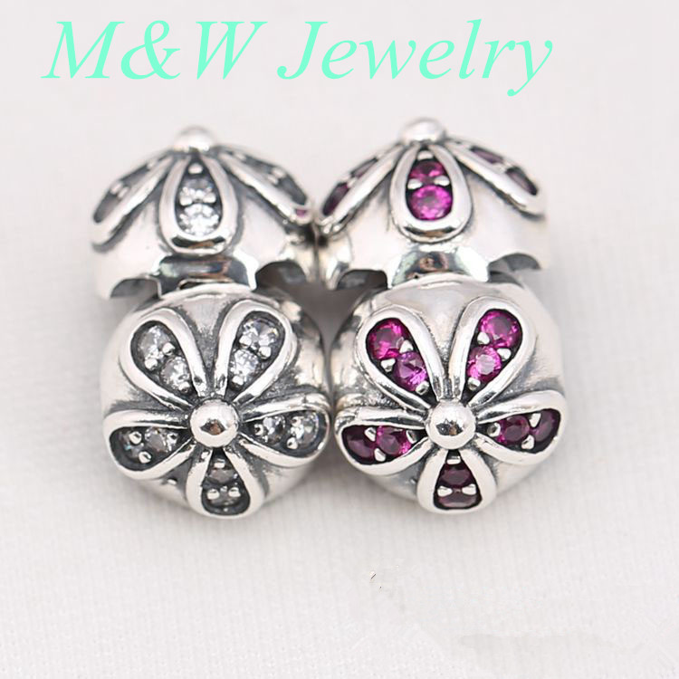 2017 Hot Sale 925 Sterling Silver Luminous Floral Openwork Beads Charms Fit Original Charm Bracelet DIY Jewelry M&WD3600