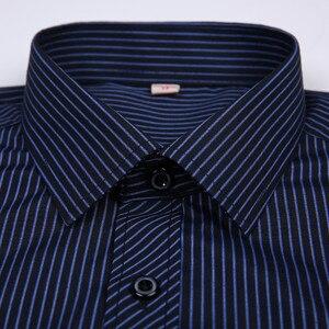 Image 4 - Novo 8xl plus size grande manga longa dos homens não ferro vestido camisa masculina social listrado camisas fácil cuidado oversized camisa