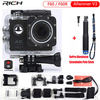 Action Camera F60R Wifi Sports Extreme Mini Camera Recorder 1080P 60FPS Bike Helmet Video Camera Go