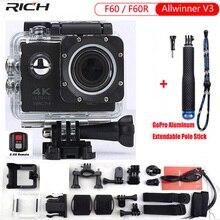 Action Camera  F60R wifi Sports extreme Mini Camera Recorder 1080P 60FPS Bike Helmet Video Camera go Waterproof pro sports DV