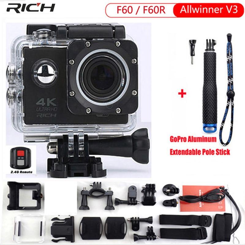 Caméra d'action F60R wifi Sports extrême Mini caméra enregistreur 1080 P 60FPS casque de vélo caméra vidéo aller étanche pro sports DV
