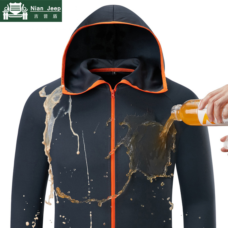 Waterproof Jacket Coats Outwear Hooded Lightweight Quick-Drying Male Soft Breathable