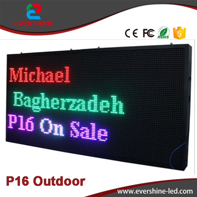 2017 New! Outdoor P16 RGB Full Color Video LED Advertising Screen Size 2m x 1m  Alibaba express Mount Wall full color 8 x 8 led rgb matrix screen driver board