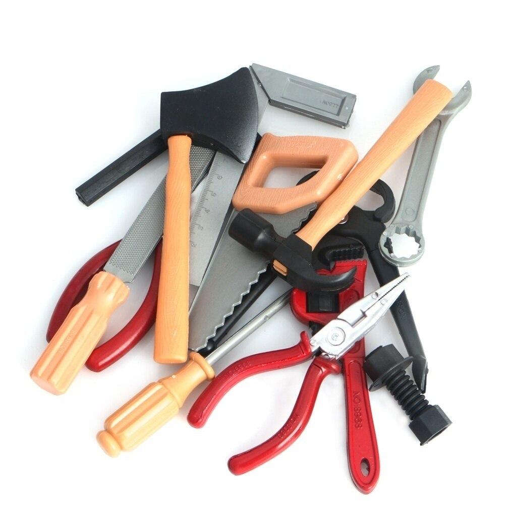 14pcs/Set Classic Boy Building Repair Tool Toys Plastic DIY Construction Educational Toy Tool Kits Set