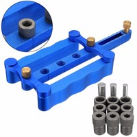New Self Centering Dowelling Jig Metric Dowel Drilling Wood Drill Kit With 3 Pins 6 8