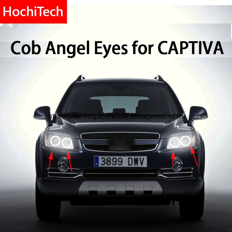 For CHEVROLET CAPTIVA S3X 2006 - 2011 COB Led day Light White Halo Cob Led Angel Eyes Ring Error Free Ultra bright стоимость