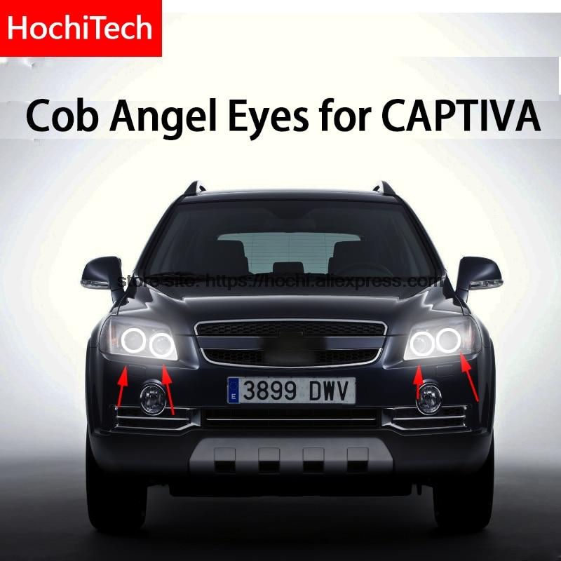 For CHEVROLET CAPTIVA S3X 2006 - 2011 COB Led day Light White Halo Cob Led Angel Eyes Ring Error Free Ultra bright
