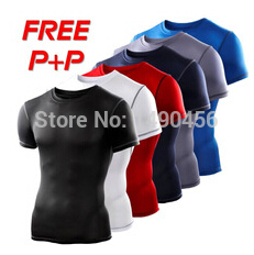 Mens Compression Base Layers Under Tops fitness   T     Shirts   Skins Gear Wear Thermal Tees High Flexibility Size S-XXL