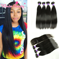 Peruvian Straight Hair With Silk Base Closure 4 Bundles Deals With Closure Wonder Beauty Straight Hair With Silk Base Closure