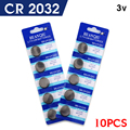 10pcs/lot CR2032 BR2032 DL2032 lir ml2032 L2032 CR 2032 cr-2032 Lithium Li-ion 3V Button Cell Coin Battery for switch Wholesale