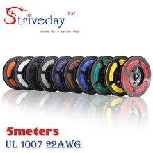 Striveday 22 AWG 5 м 16,4 футов гибкий многожильный 10 цветов UL 1007 электронный провод проводник для DIY электрические провода, 22awg кабели