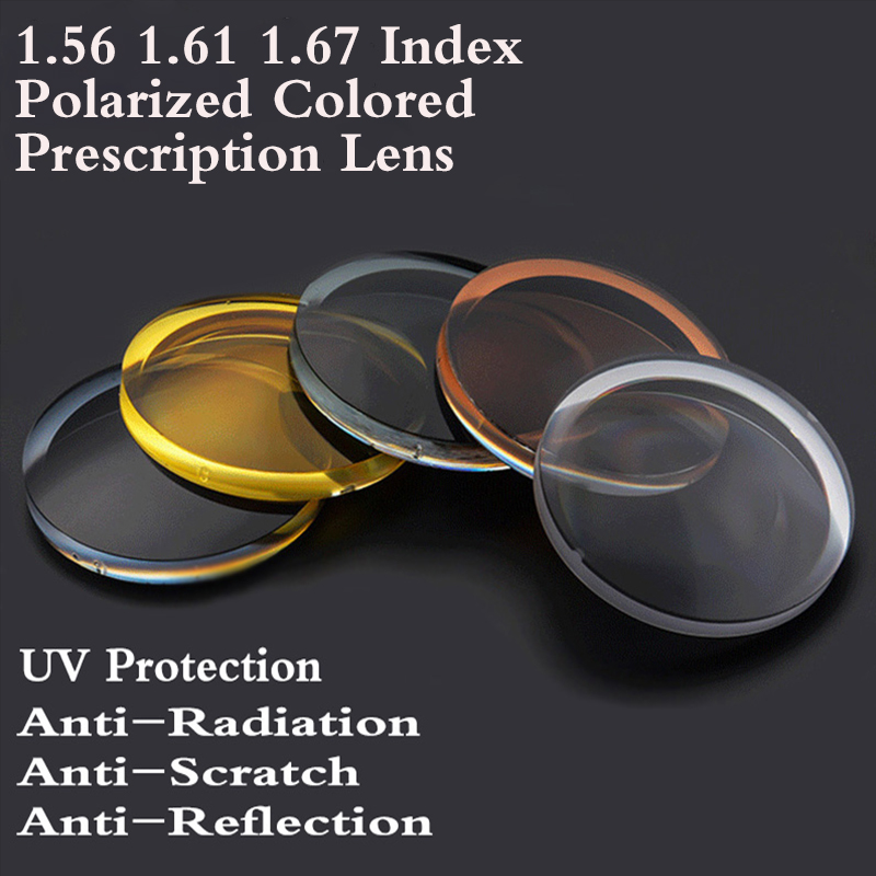 1 56 1 61 1 67 Index Aspheric Polarized Colored Optical Prescription Eyeglasses Lens Myopia Presbyopia