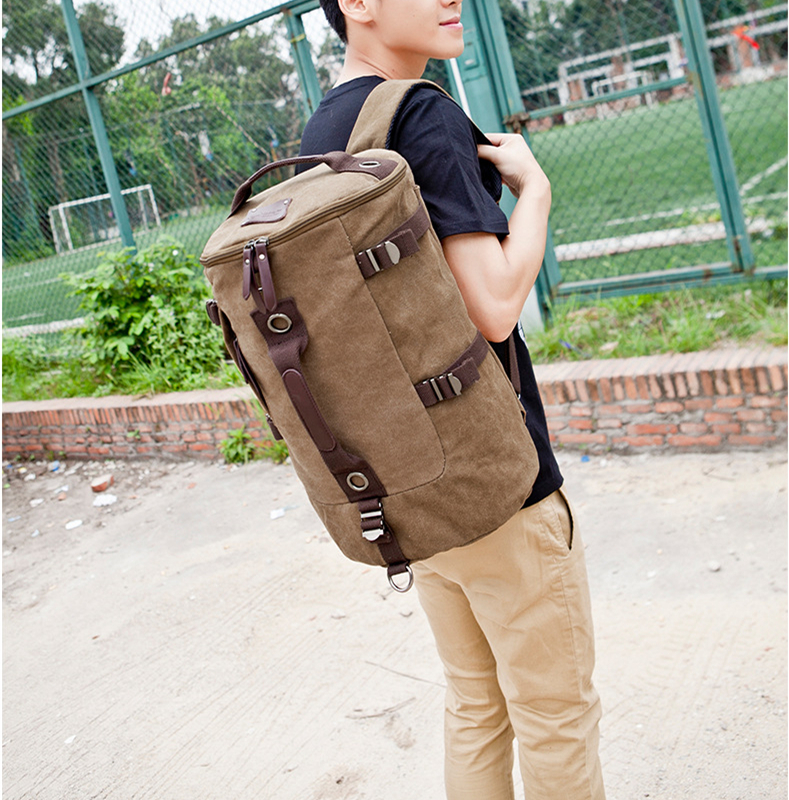 Huge Travel Bag Large Capacity Vintage Canvas Big Size Men Bags Luggage Backpacks Hand Bucket Bag Mochila masculina militar the jungle book