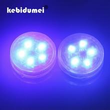 Kebidumei 2 шт. Предупреждение лампы-вспышки 5 светодиодов индикации безопасности Беспроводной анти-столкновения сигнальный светильник стояночные огни автомобиля открывания двери