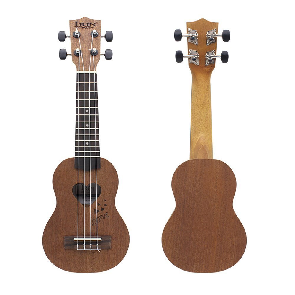IRIN 17 Mini Ukelele Ukulele Spruce/Sapele Top Rosewood Fretboard Stringed Instrument 4 Strings with Gig Bag