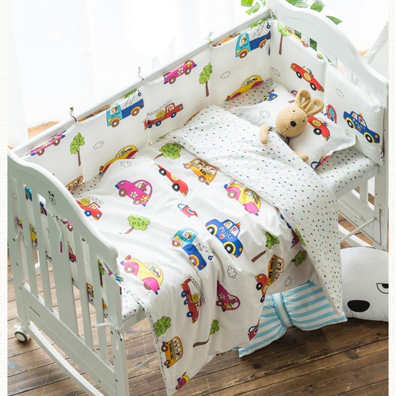 Мультфильм Дизайн маленьких Постельное белье детское постельное белье 100% хлопок детская кровать комплект из 3 предметов в том числе наволо...
