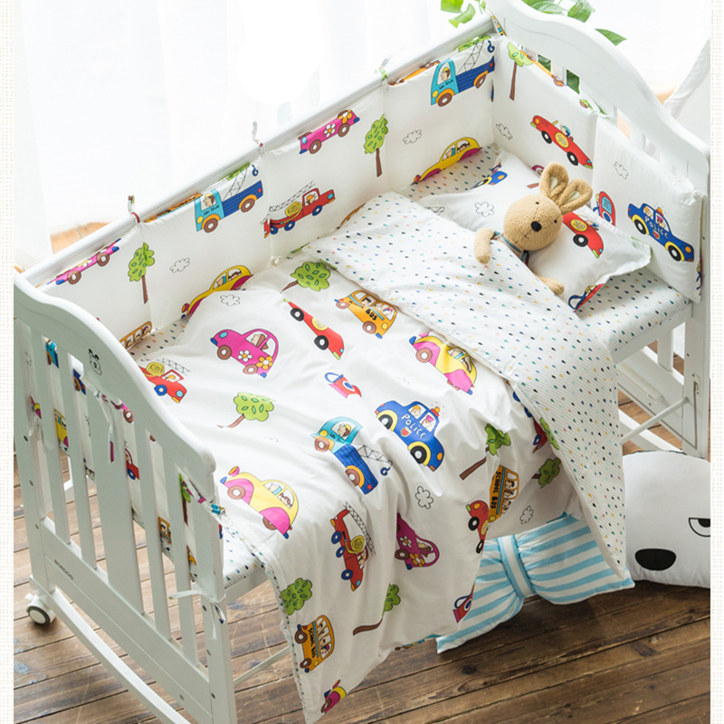 Cartoon Design Baby Bedding Set Baby Crib Bedding Cotton 100% Baby Bed Set 3 pcs/set Including Pillowcase Quilt Cover Bed Sheet nursery bedding baby boy cartoon quilt cover for bed crib sheet pillowcase 100% cotton bedding set