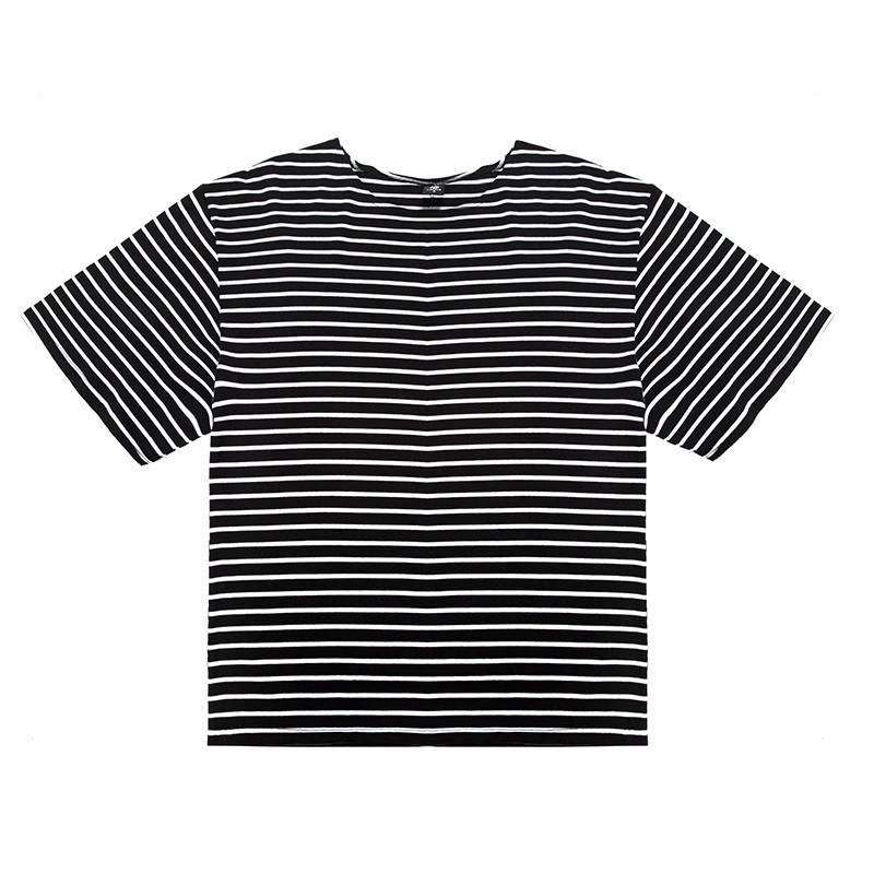 Hzijue 2017 Fashion Summer Brand Half Sleeve Hiphop Loose Street Wear T-shirt Striped Justin Style Cotton Personality T-shirts T-shirts