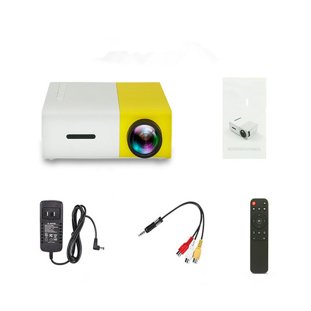 New YG-300 YG300 Mini Portable Projector Home Theater HDMI 400-600 Lumens 320*240 Pixels LED Multimedia Digital Video Proyector