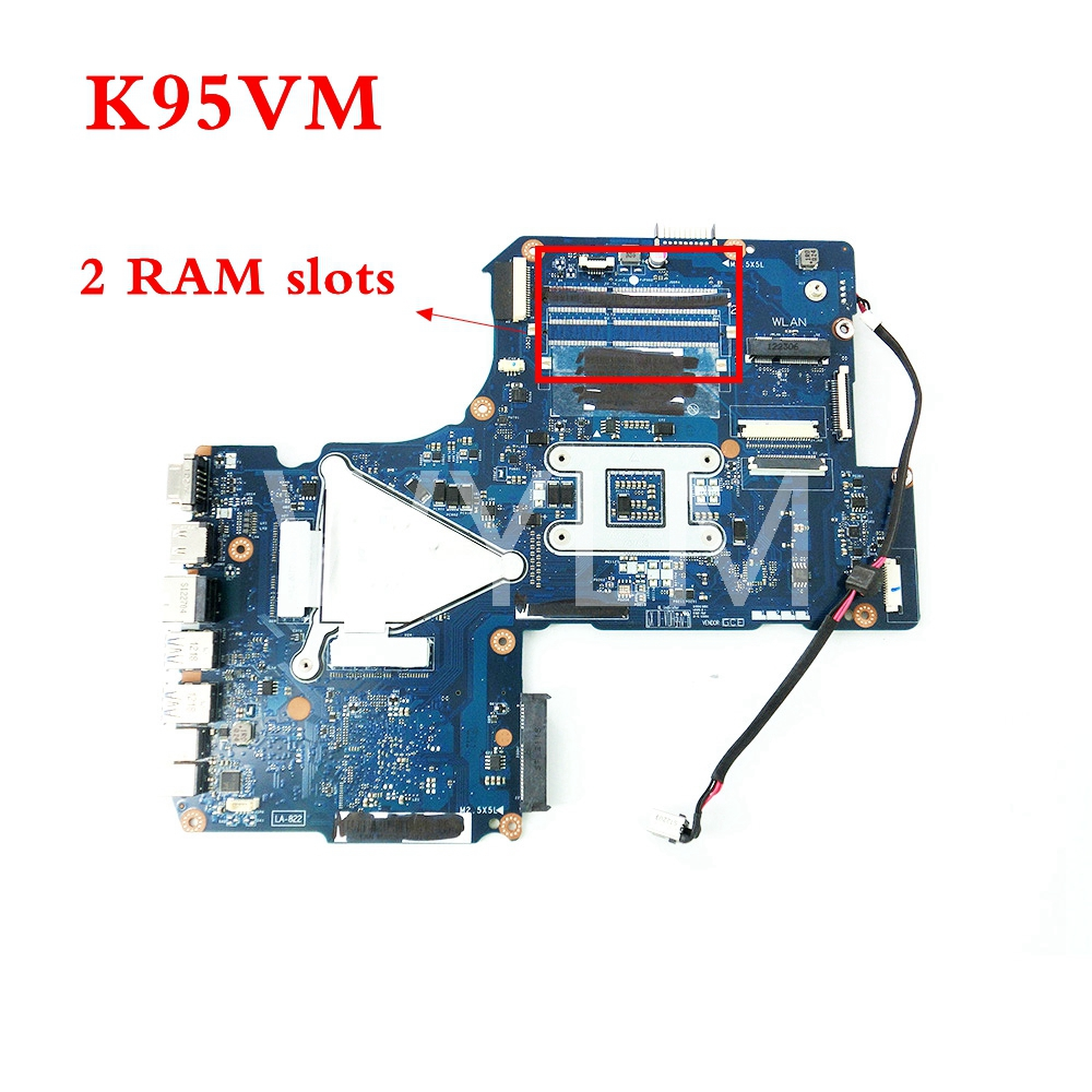 все цены на K95VM QCL90 LA-8223P GT630M 2G N13P-GL-A1 2 RAM slots mainboard for ASUS A95V K95VJ A95VJ laptop motherboard 100% Tested Working онлайн