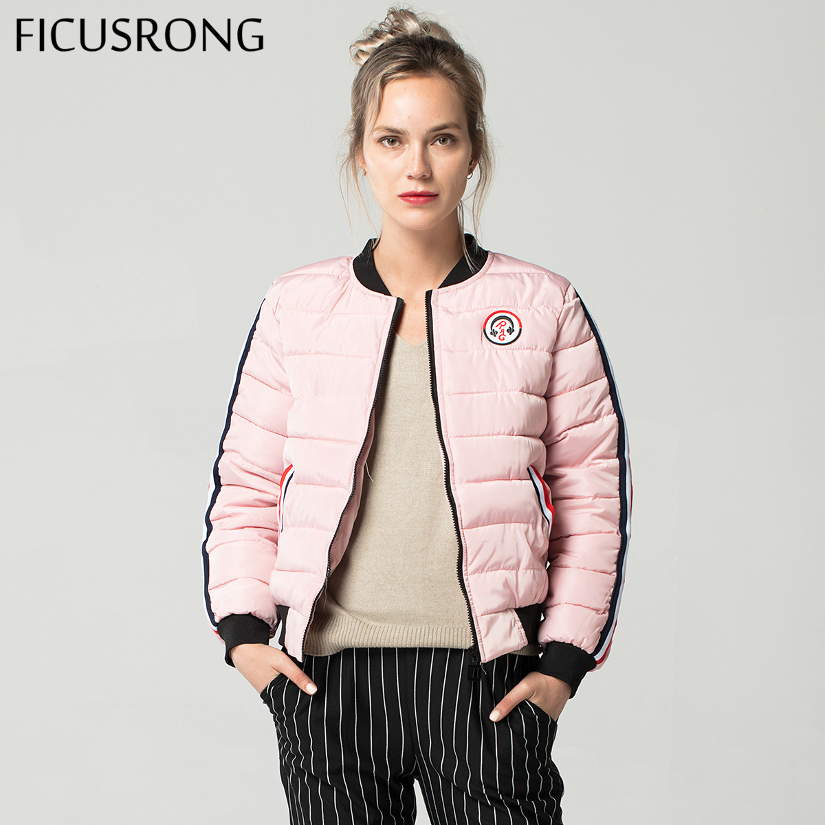 Fashion Warm Winter Jacket Women 5 Colors 2018 New Down   Parkas   Cotton Padded Jacket Girls Slim Thick Short Female Jacket Coat