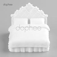 Dophee 5 stks Europese dubbele bed Model DIY zand tafel model materiaal Wit 1:25 miniatuur meubels