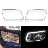 Plastic Headlight Headlamp Cover Replacement Transparent For VW MK4 Jetta Bora 1998 2004