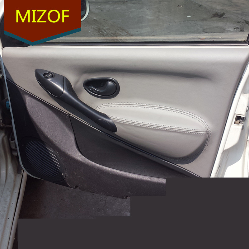 cheap prices amazing selection best shoes US $69.36 |Auto Modified Accesorries Fibre Leather Interior Doors Panel  Armrest Cover For Fiat Palio Weekend Siena AAB068-in Interior Mouldings  from ...