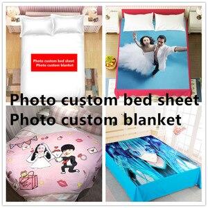 Image 2 - DIY custom bed sheet  creative personality photo The blanke wedding celebration  bedding cover bed sheet birthday gift 2019