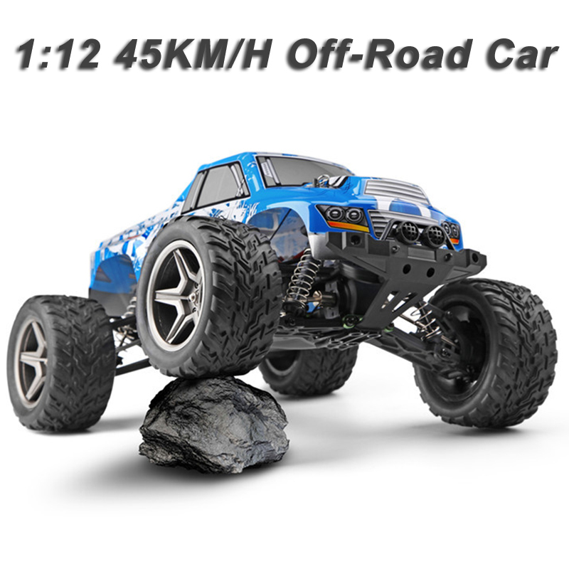 Wltoys 12402 RC Car 1:12 Large Scale 2.4G 4WD 45KM/H High Speed RC Crawler Off-Road Bigfoot Short Truck Radio Control Unicorn wltoys 12402 rc cars 1 12 4wd remote control drift off road rar high speed bigfoot car short truck radio control racing cars