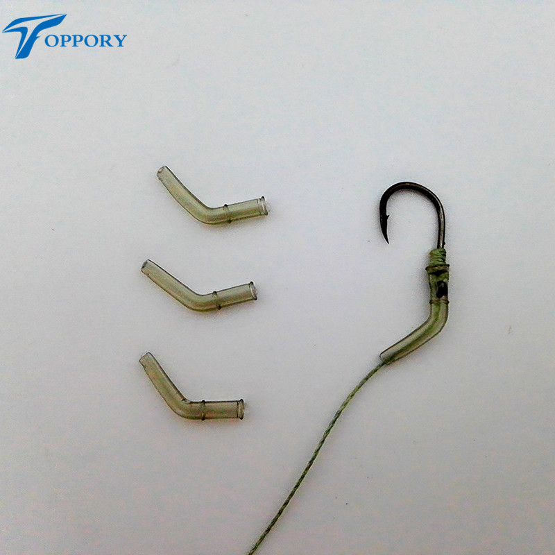 Toppory 30PCS 50PCS 100PCS/Lot Carping Fishing Bent Hook Aligner Sleeves Anti tangle Tube Line Kick Off Hair Rig Accessories free shipping pandora box 4s 815 in 1 jamma mutli game board arcade mutligame pcb vga hdmi signal output for arcade game cabinet