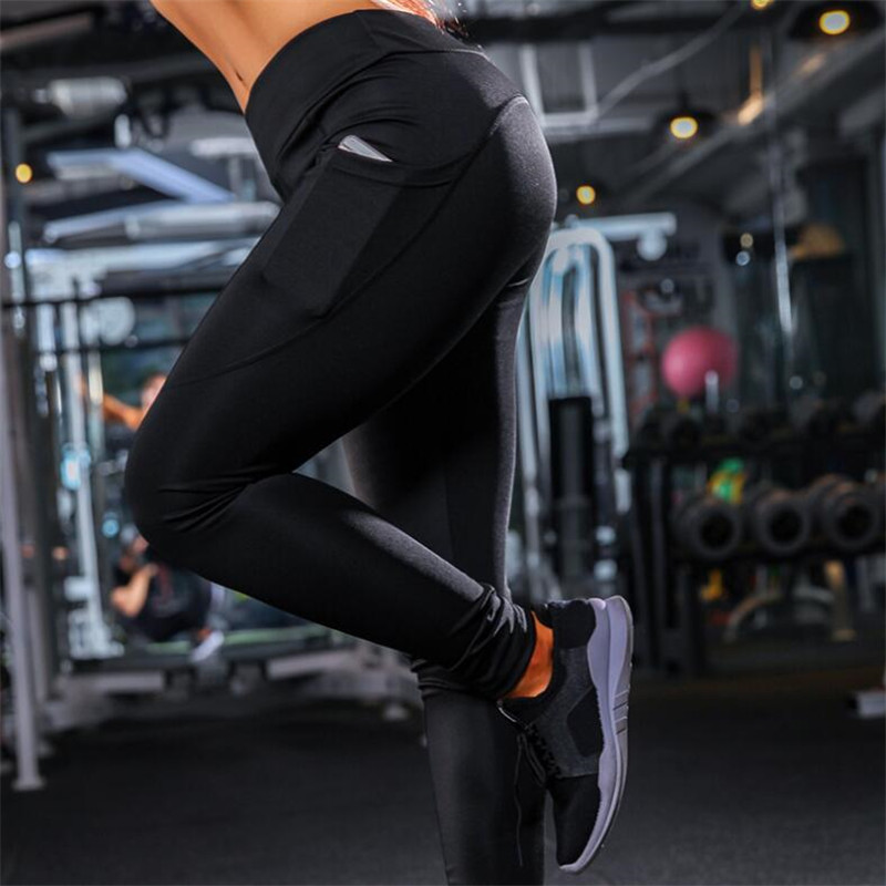Women   Legging   Side phone pocket leggins for Women   leggings   High Waist Legins Woman Pants Stretch Ass fitness   Leggings   wholesale