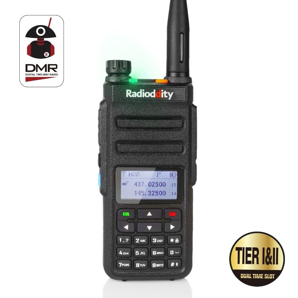 imágenes para Radioddity GD-77 Dual Band Dual Time Slot DMR Digital/Analógico de Radio de Dos Vías 136-174/400-470 MHz 1024 Canales de Walkie Talkie Jamón