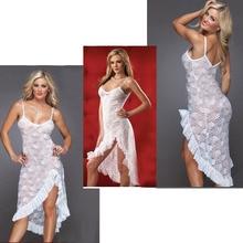 Long Sexy NightDress Womens DancingDress T-Back M,L,XL,XXL Ensemble Lingerie Erotic Pajamas Women Dress *Q