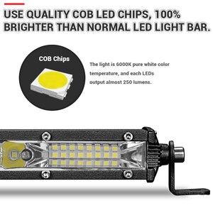 Image 4 - Супертонкая Светодиодная панель 10 20 30 дюймов, комбинированный луч, Однорядная Светодиодная панель для внедорожников, для автомобилей, грузовиков, 4x4, квадроциклов, УАЗ, внедорожников, 12 В, 24 В, лампа дальнего света