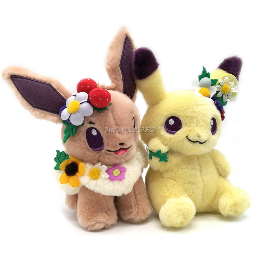 10/Lot 2 Arten Ostern Garten Party Pikachu Eevee 18CM Plüsch Puppe Stofftiere-in Filme und TV aus Spielzeug und Hobbys bei  Gruppe 1