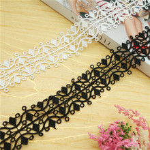3.5cm Wide Good Quality Delicate Water Soluble Embroidery Lace DIY Children's Clothing Skirt Wedding Dress Sewing Accessories 7cm wide hollow delicate flower lace handmade diy embroidery clothing accessories skirt water soluble edge sewing curtain decor