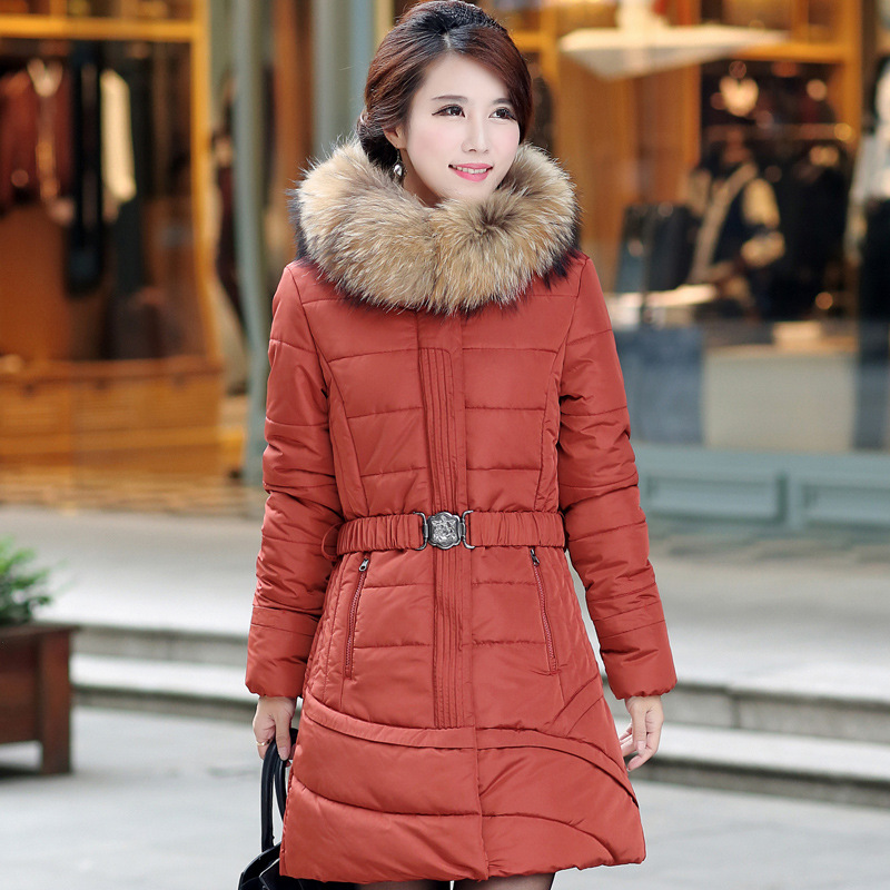 Wadded Jacket Women Parkas Nice Hooded Imitation Fur Collar Warm Winter Padded Cotton Coat Plus Size L-5XL 2 Color HJ222 winter women outwear long hooded cotton coat faux fur collar plus size parkas wadded slim jacket warm padded cotton coats pw0997