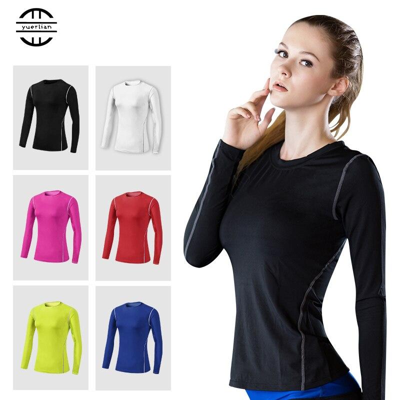 YEL Hot Women Logo Custom Gym Yoga Shirt Fitness Tight Blouses Training Sport Suit Running Sportswear Long sleeve female T-shirt what business should i start