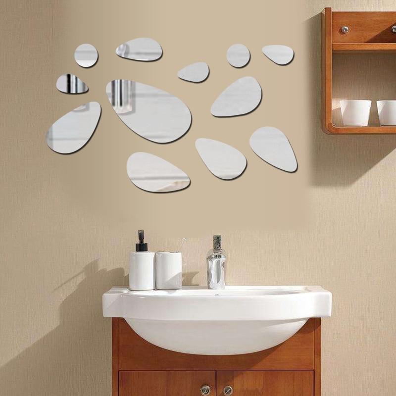 pegatinas de pared de espejo d pegatinas de pared cabeza de adoquines de la entrada de la entrada de la decoracin del techo de