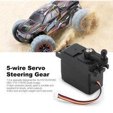 5-wire Servo Steering Gear Micro Servo Motor Plastic Gear High Torque Servos Horns For XLH 9125 REMO HBX 1/10 1/16 RC Truck цена