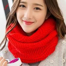 b6792ff38bc Feitong calidad invierno bufanda mujer bufandas para las mujeres moda mantener  caliente cuello círculo cowl redecilla